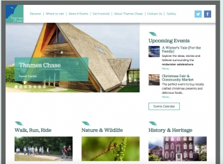 Thames Chase Community Forest website screenshot